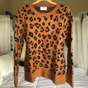 Cheetah Print Sweater - Old Navy